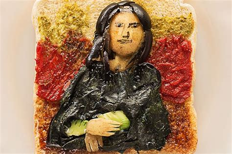 The Mona Lisa made from toast joins famous artworks