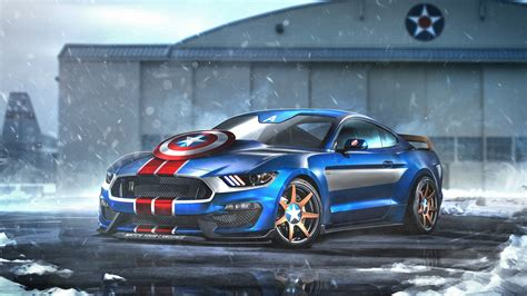 Captain America Ford Mustang GT350R Wallpapers | HD