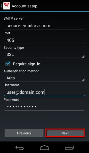 4DPrime - Email Setup for Android: Motorola